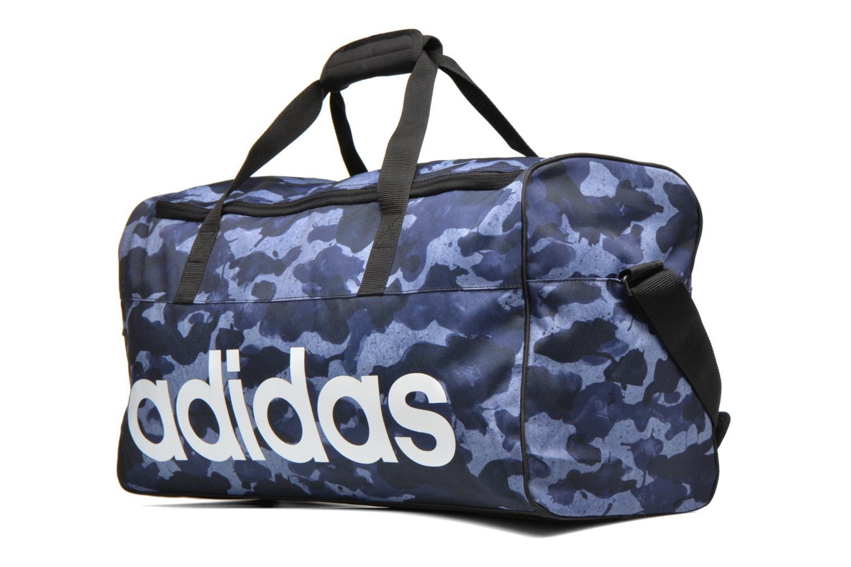 Sacs de sport Adidas Performance LIN PER TB GR M Bleu vue portées chaussures