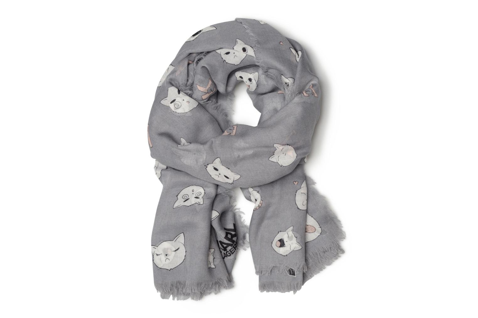Choupette faces Scarf Smoke