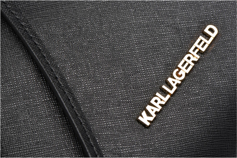 Sacs à main Karl Lagerfeld Klassik Drawstring Noir vue gauche