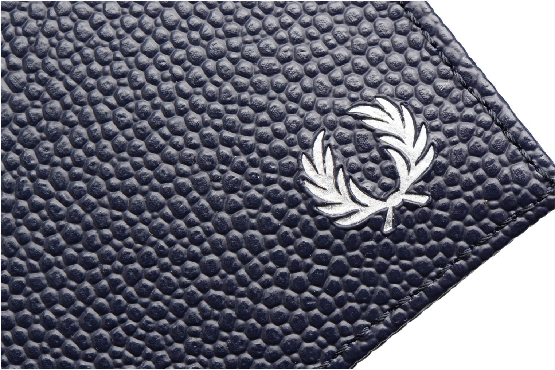 Petite Maroquinerie Fred Perry Scotch grain Card Holder Bleu vue gauche