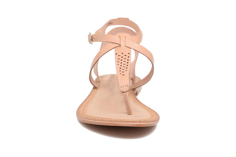 Sandalias Vero Moda Anneli Leather Sandal Beige vista del modelo
