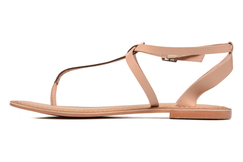 Sandalias Vero Moda Anneli Leather Sandal Beige vista de frente