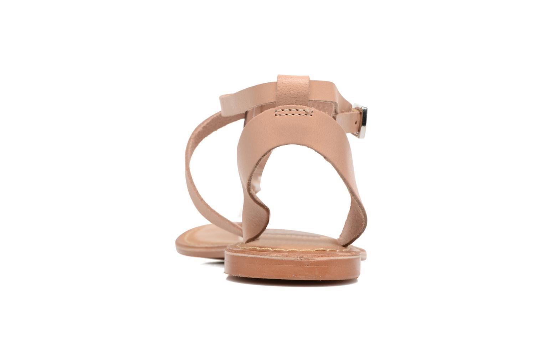 Sandalias Vero Moda Anneli Leather Sandal Beige vista lateral derecha