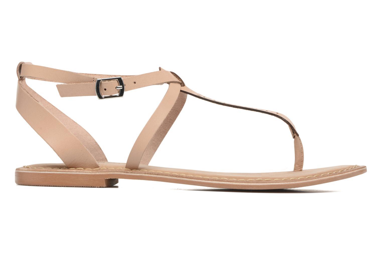 Sandalen Vero Moda Anneli Leather Sandal Beige achterkant