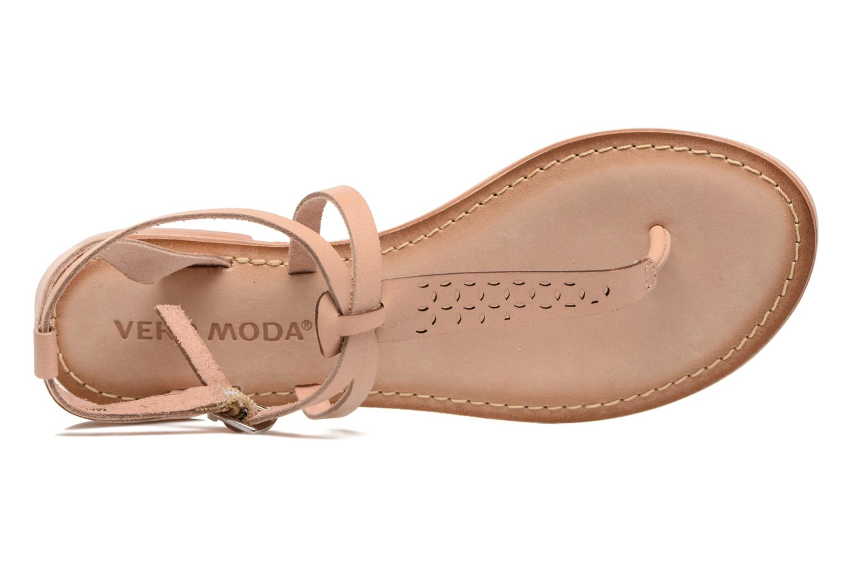 Sandalias Vero Moda Anneli Leather Sandal Beige vista lateral izquierda