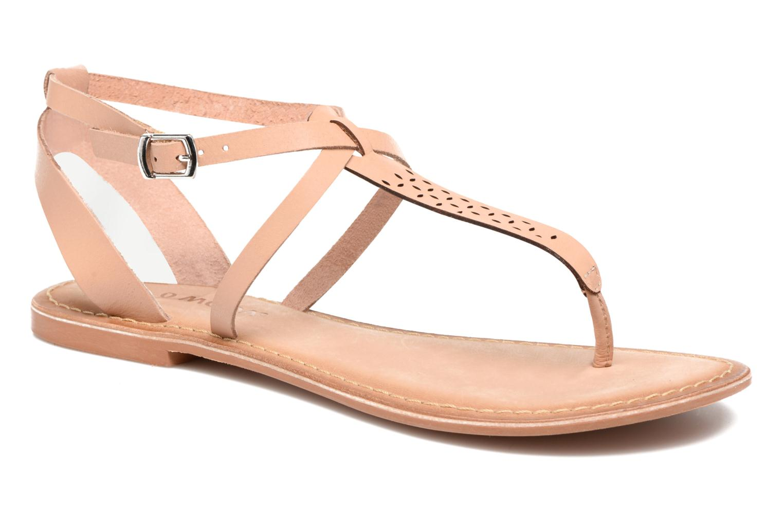 Sandalias Vero Moda Anneli Leather Sandal Beige vista de detalle / par