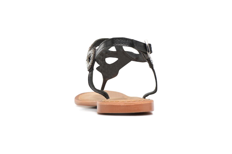 Sandalen Vero Moda Sis Leather sandal Zwart rechts