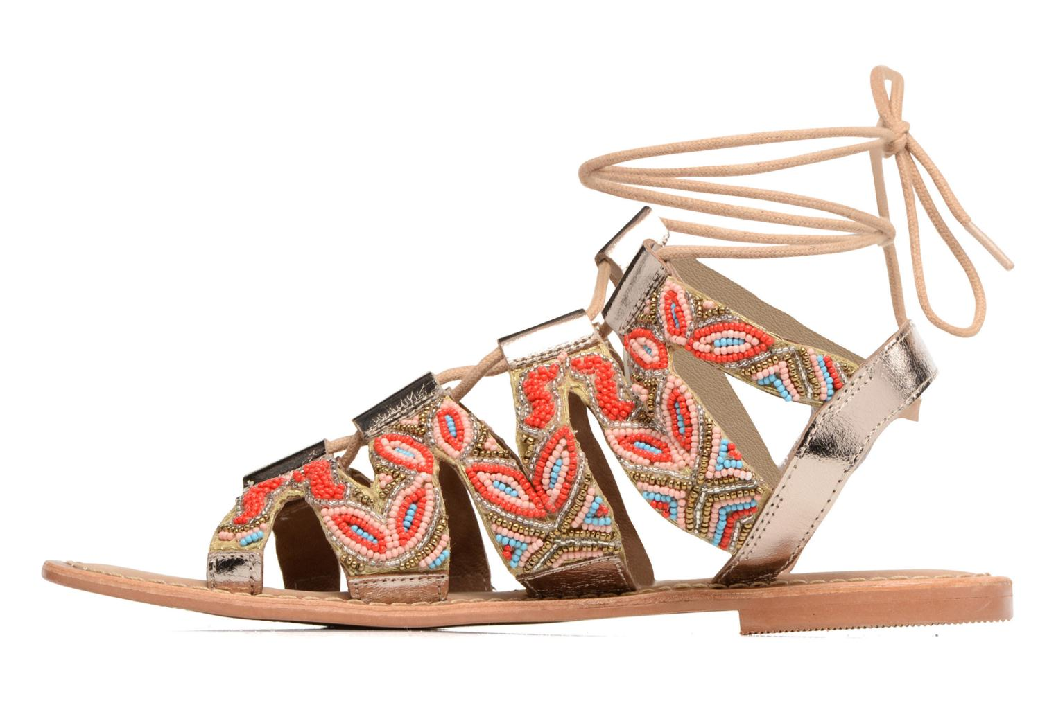 Sandalen Vero Moda Maya Leather Sandal Multicolor voorkant