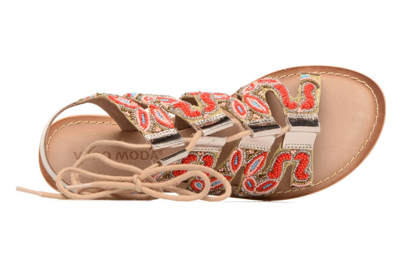 Sandales et nu-pieds Vero Moda Maya Leather Sandal Multicolore vue gauche