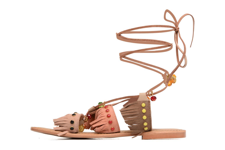 Sandalen Vero Moda Sikka leather sandal Bruin voorkant