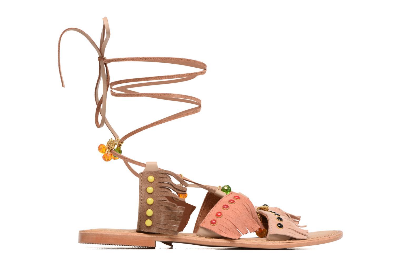Sandalen Vero Moda Sikka leather sandal Bruin achterkant