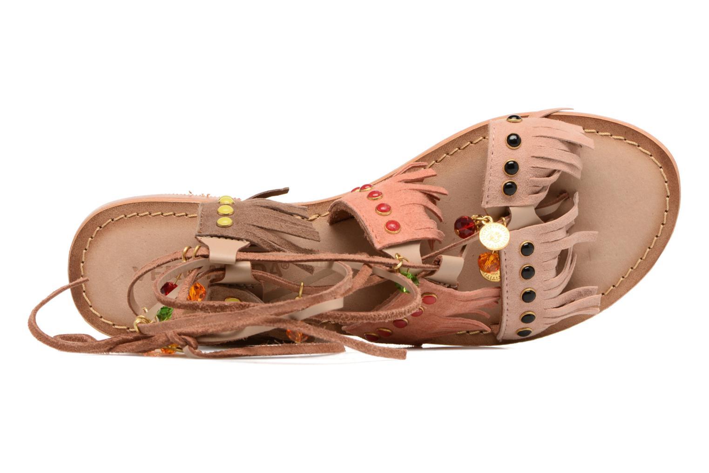 Sikka leather sandal Cedar wood