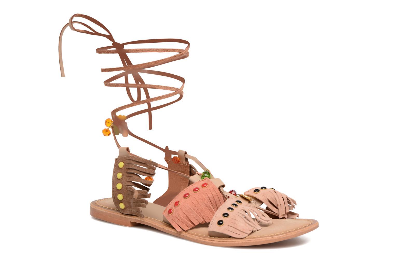 Sandalen Vero Moda Sikka leather sandal Bruin detail