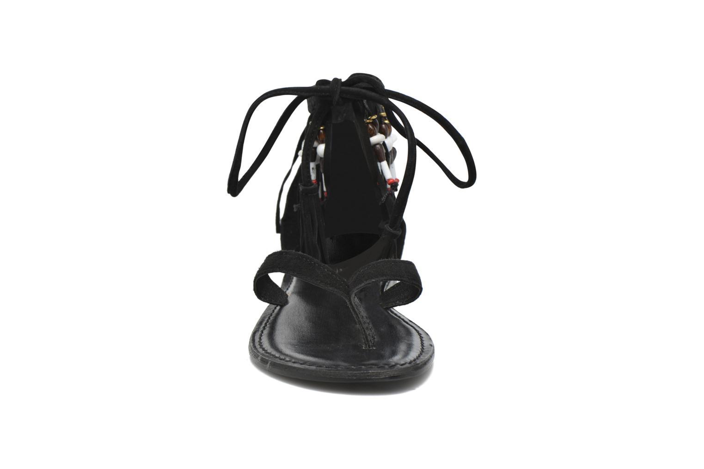 Sandalen Vero Moda Kaya Leather Sandal Zwart model
