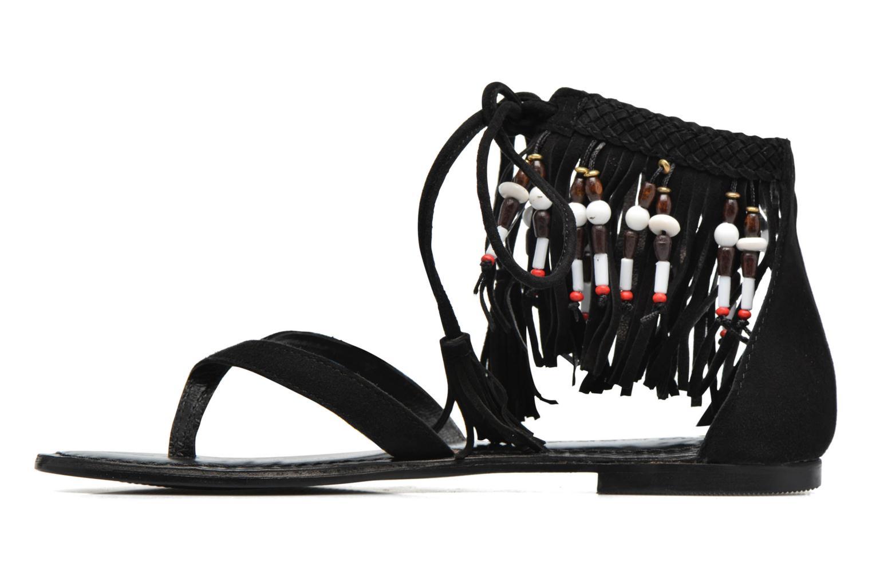 Sandalen Vero Moda Kaya Leather Sandal Zwart voorkant