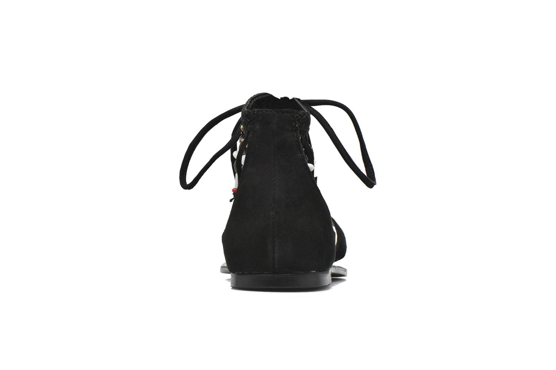 Sandalen Vero Moda Kaya Leather Sandal Zwart rechts