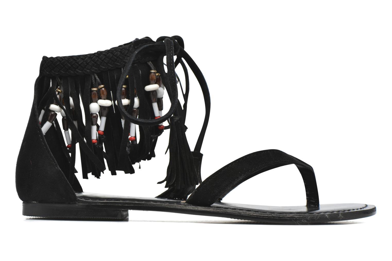 Sandalen Vero Moda Kaya Leather Sandal Zwart achterkant