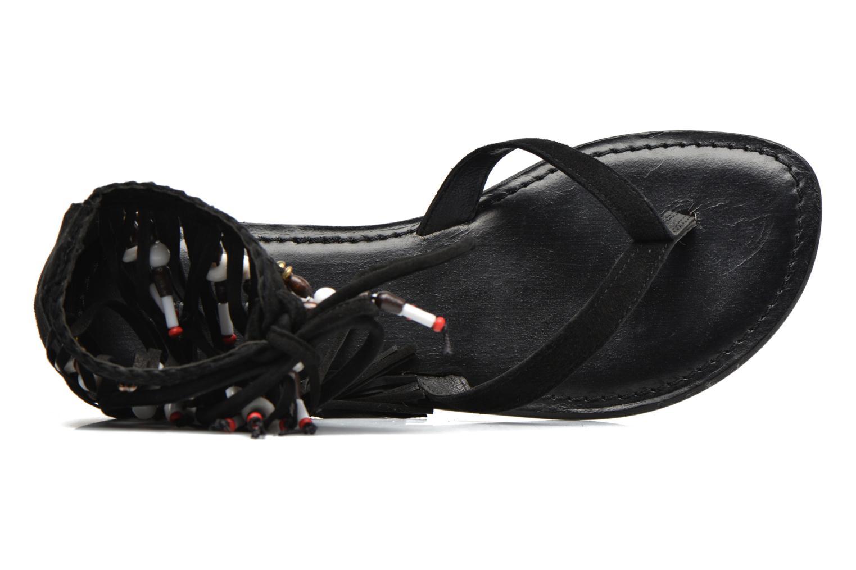 Sandalen Vero Moda Kaya Leather Sandal Zwart links