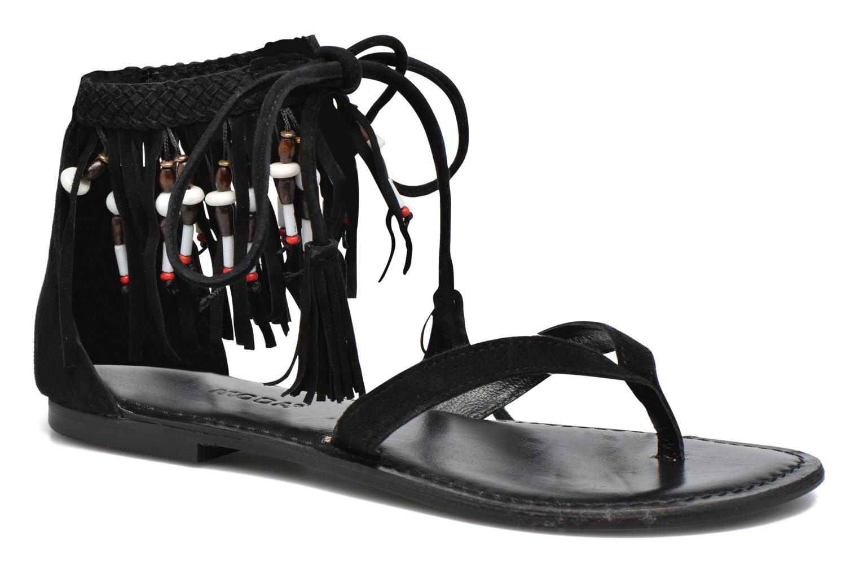 Sandalen Vero Moda Kaya Leather Sandal Zwart detail