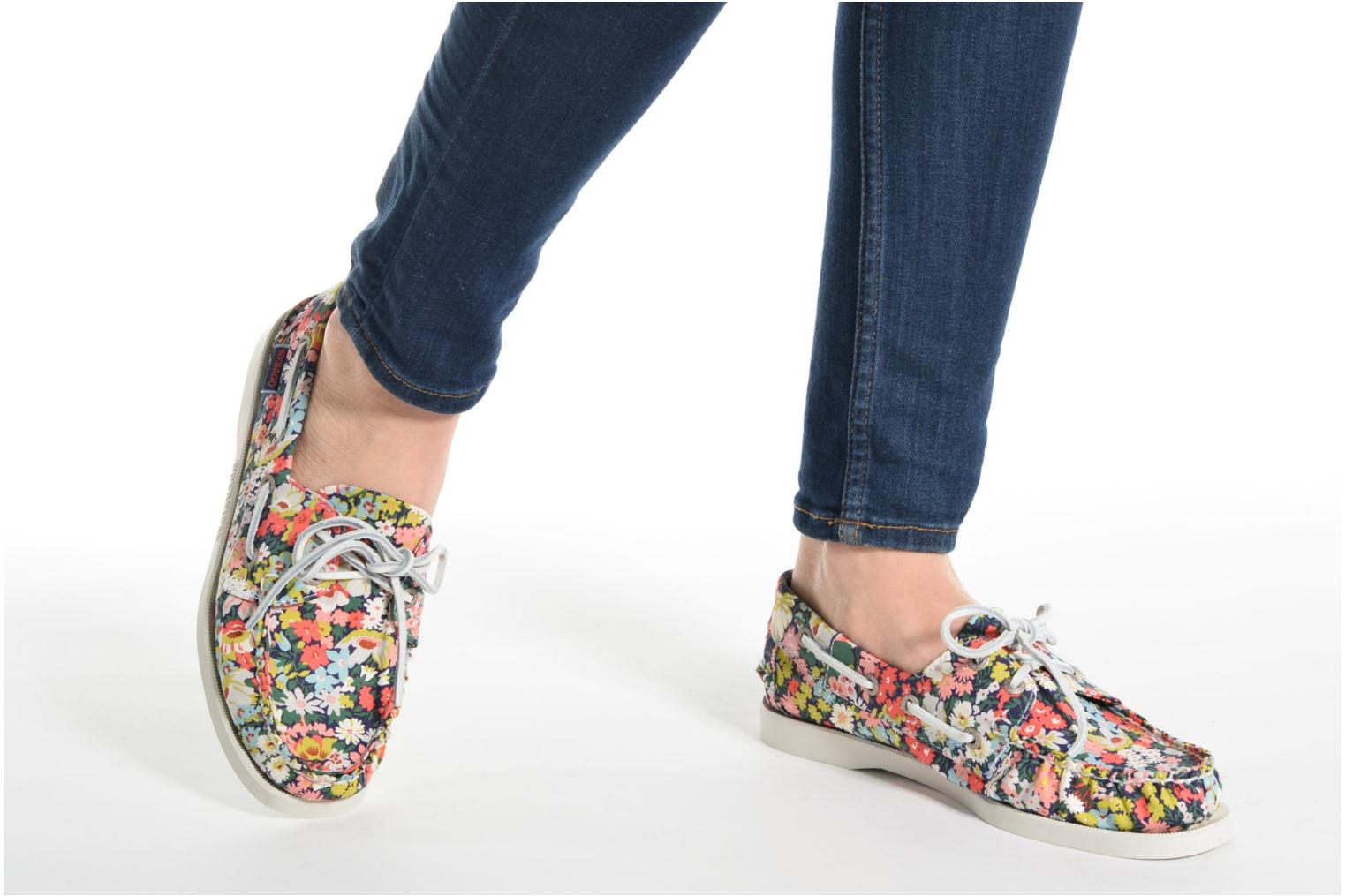 Lace-up shoes Sebago Docksides Liberty Multicolor view from underneath / model view
