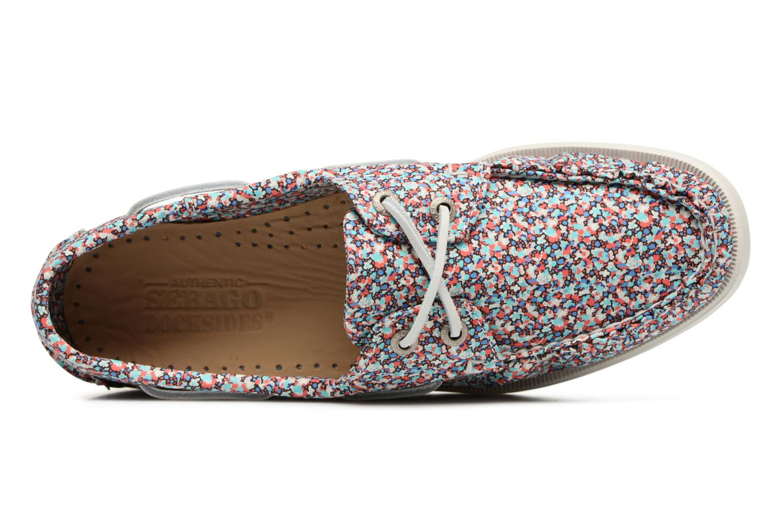 Lace-up shoes Sebago Docksides Liberty Multicolor view from the left