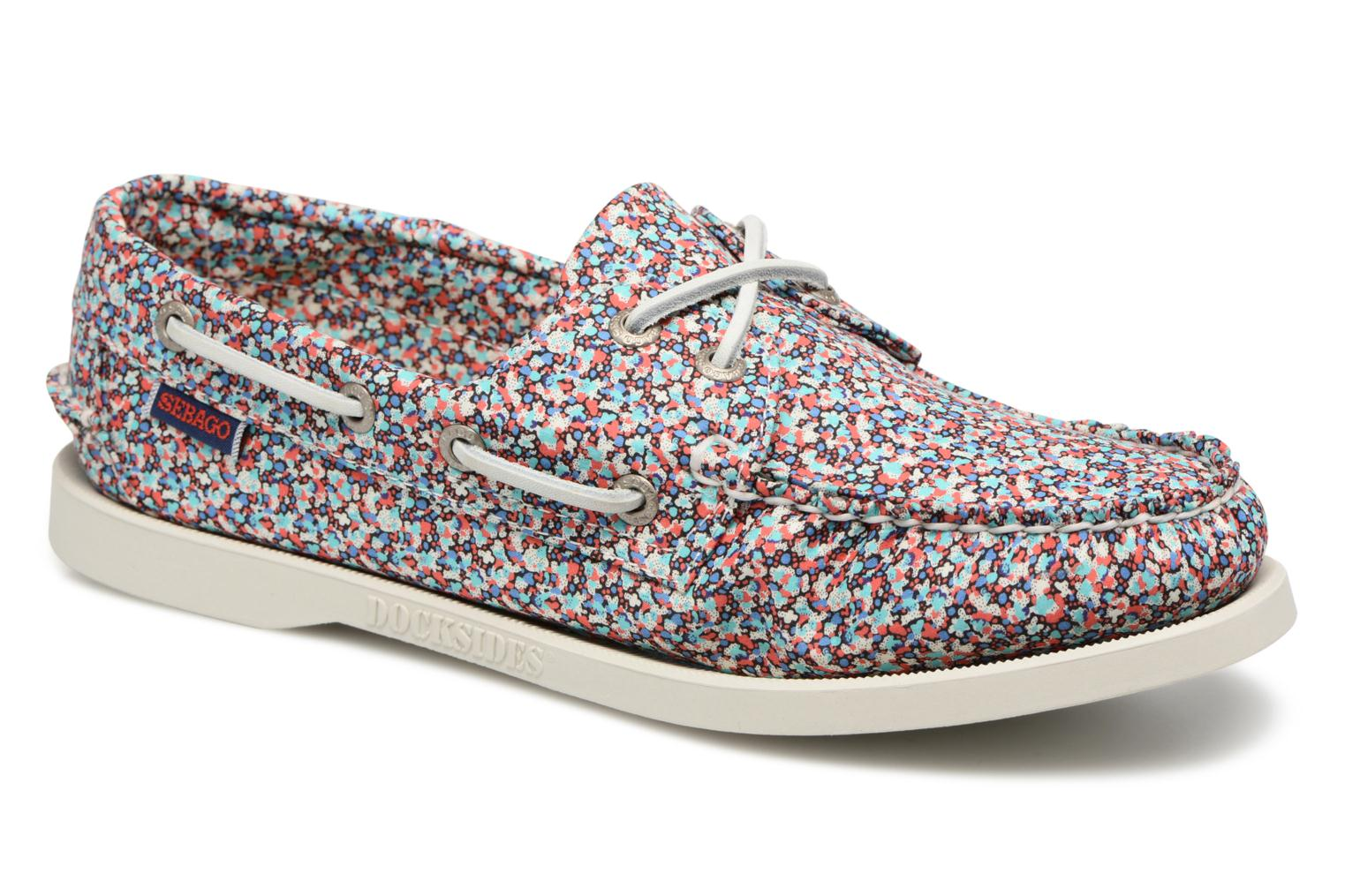 Lace-up shoes Sebago Docksides Liberty Multicolor detailed view/ Pair view