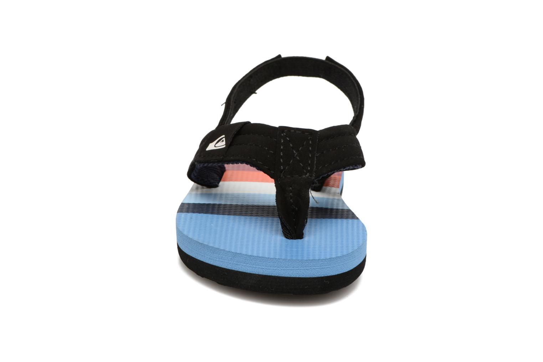 Tongs Quiksilver Molokai T Bleu vue portées chaussures