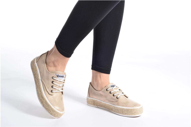Chaussures à lacets Refresh Hoke Or et bronze vue bas / vue portée sac