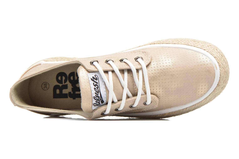 Chaussures à lacets Refresh Hoke Or et bronze vue gauche