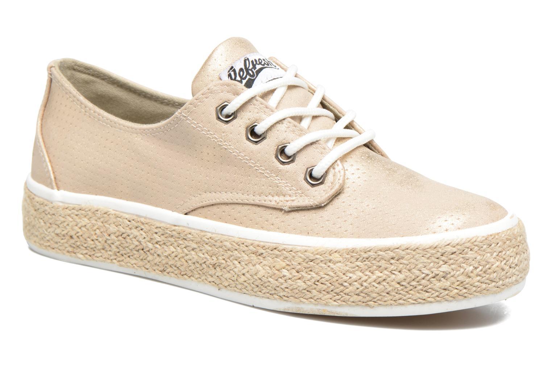 Chaussures à lacets Refresh Hoke Or et bronze vue détail/paire