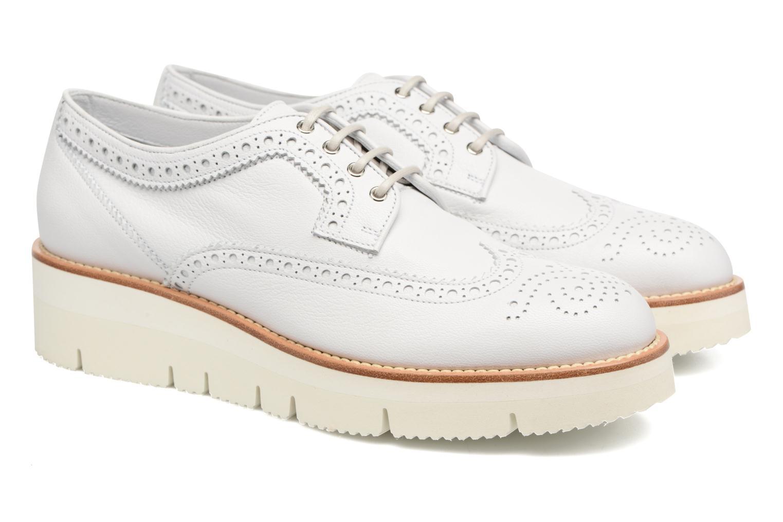 Chaussures à lacets Santoni Siby 55519 Beige vue 3/4