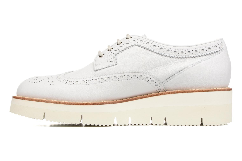 Chaussures à lacets Santoni Siby 55519 Beige vue face