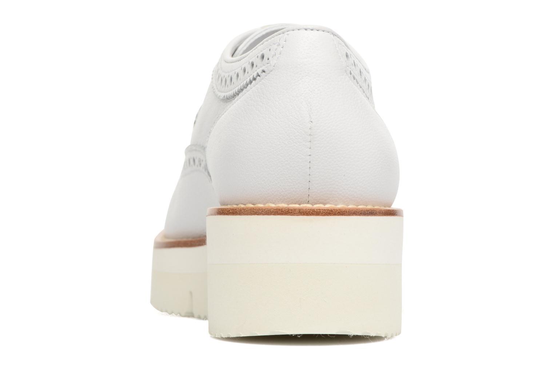 Chaussures à lacets Santoni Siby 55519 Beige vue droite