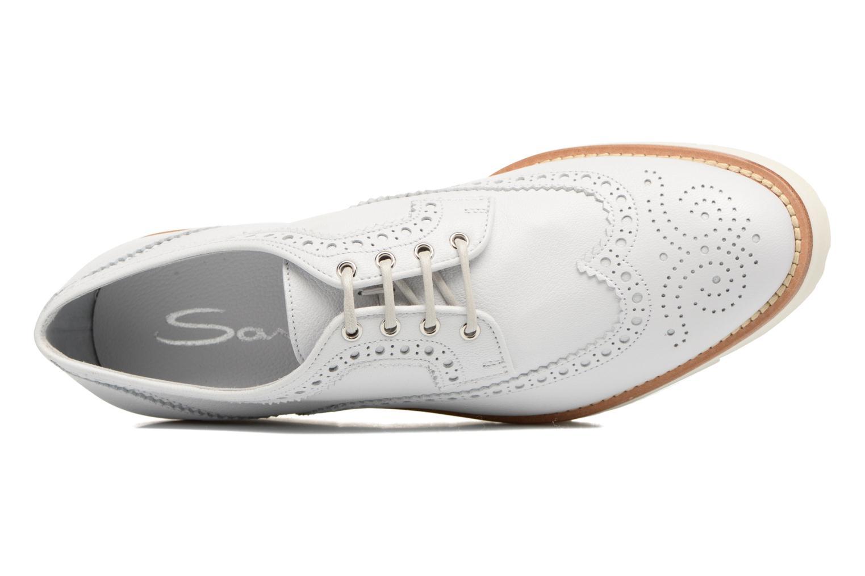 Chaussures à lacets Santoni Siby 55519 Beige vue gauche