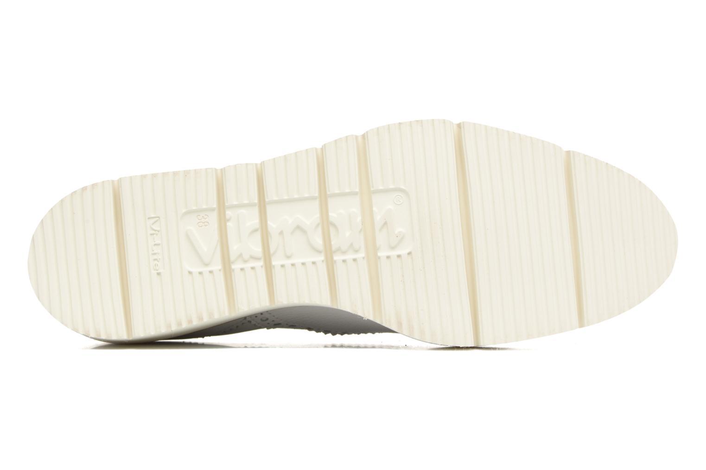 Chaussures à lacets Santoni Siby 55519 Beige vue haut