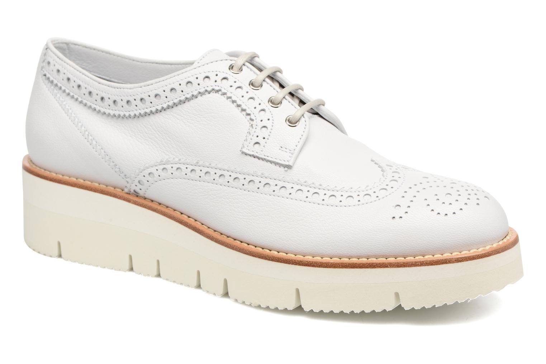 Chaussures à lacets Santoni Siby 55519 Beige vue détail/paire