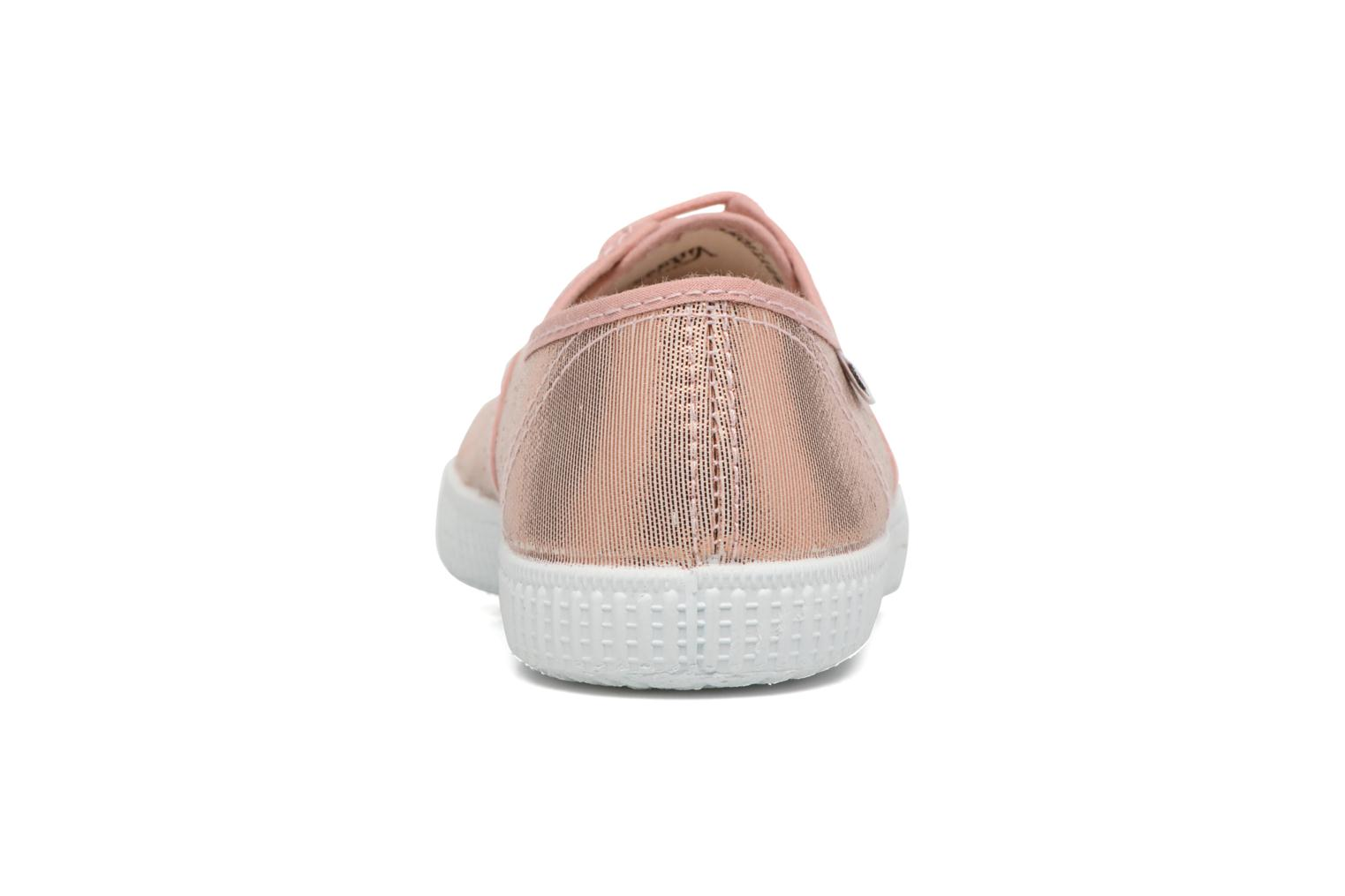 Trainers Victoria Ingles Tejido Tornosolado Pink view from the right