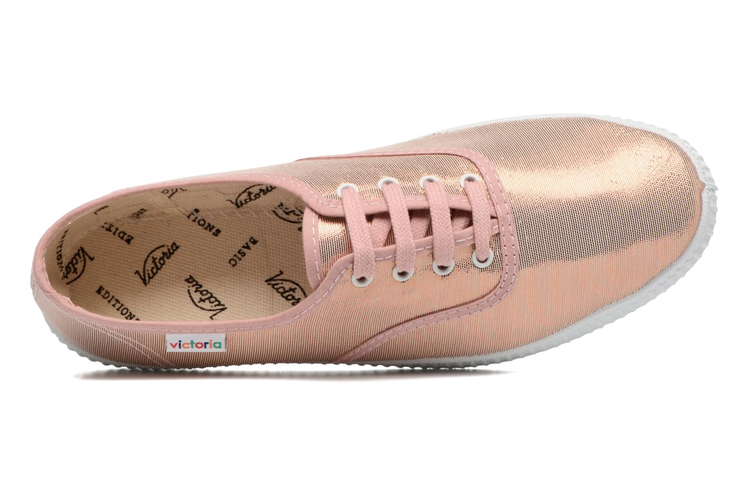 Trainers Victoria Ingles Tejido Tornosolado Pink view from the left