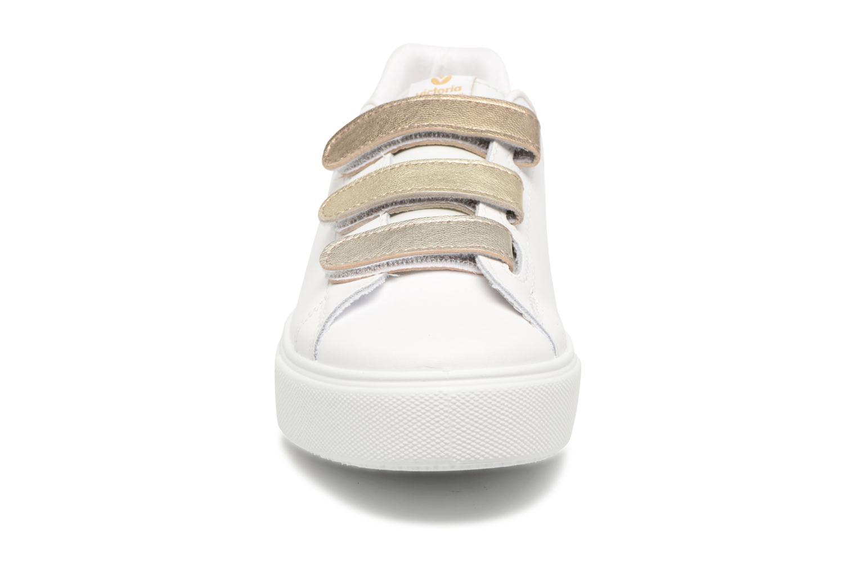 Baskets Victoria Deportivo Piel Velcros Degr Or et bronze vue portées chaussures