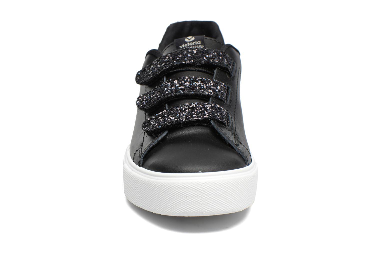 Deportivo Piel Velcros Gliss Negro