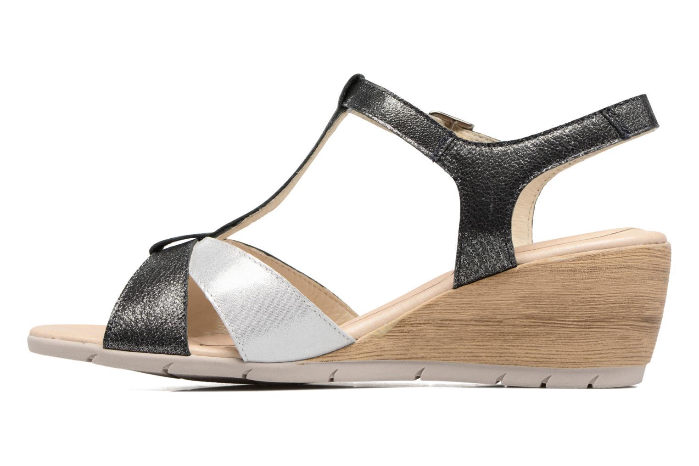 Sandales et nu-pieds Rondinaud Coise Noir vue face