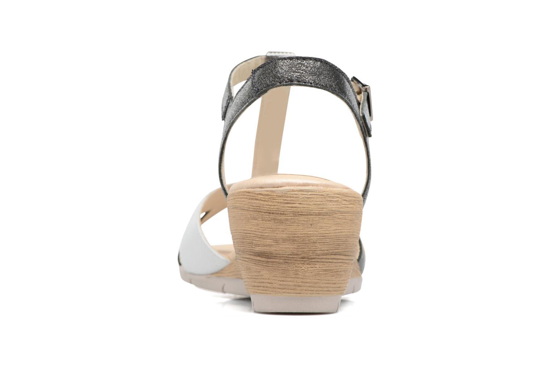 Sandales et nu-pieds Rondinaud Coise Noir vue droite