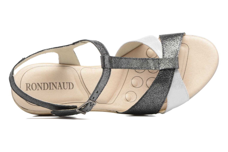 Sandales et nu-pieds Rondinaud Coise Noir vue gauche