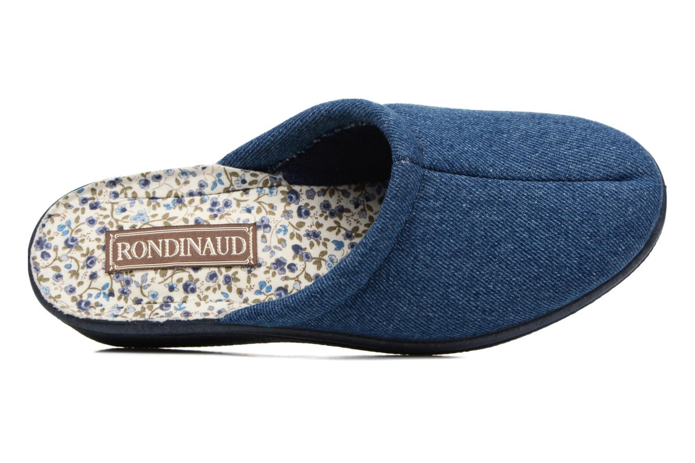 Chaussons Rondinaud Etagnac Bleu vue gauche