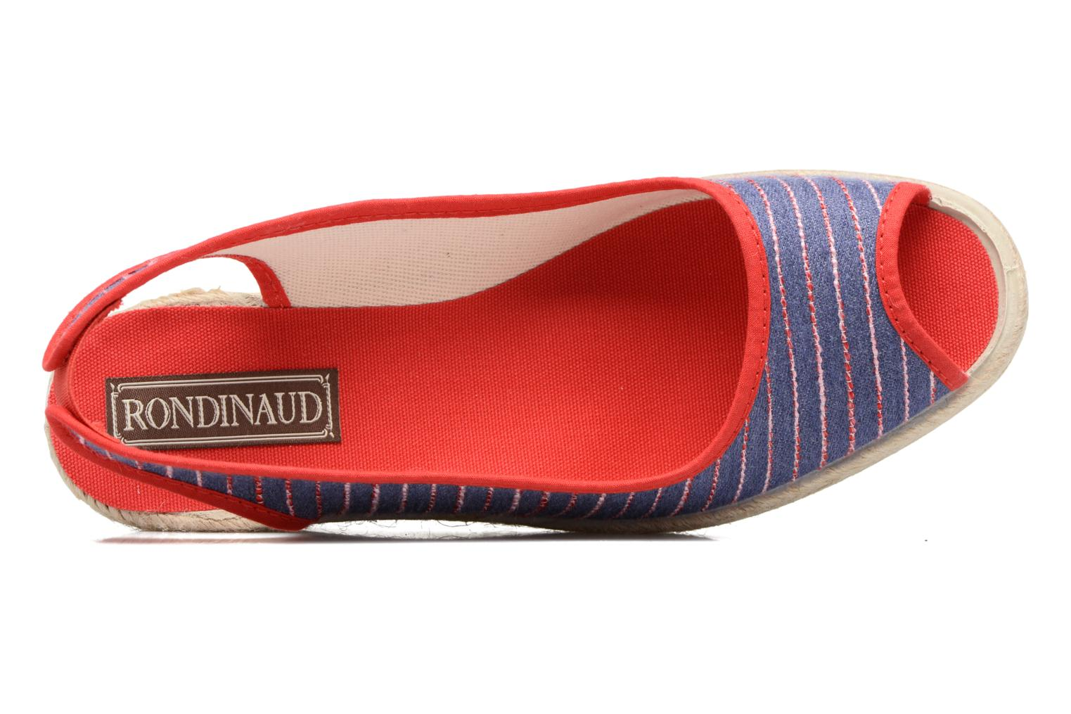 Espadrilles Rondinaud Lidoire Red view from the left