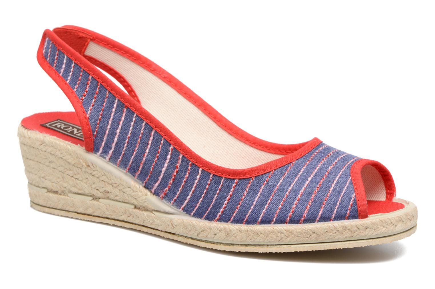 Espadrilles Rondinaud Lidoire Red detailed view/ Pair view