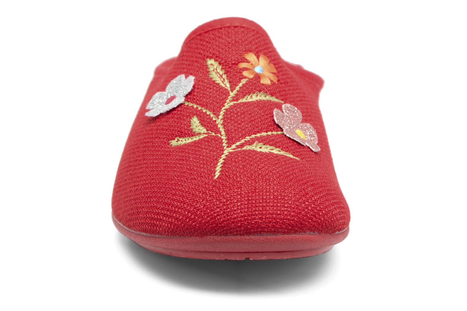Chaussons Rondinaud Semoy Rouge vue portées chaussures
