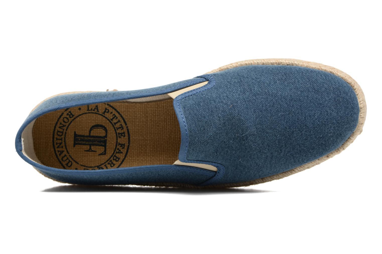 Espadrilles Rondinaud Loue Bleu vue gauche