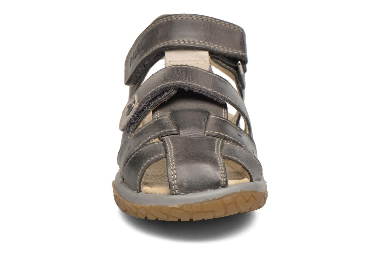 Sandales et nu-pieds Noël Tyler Gris vue portées chaussures