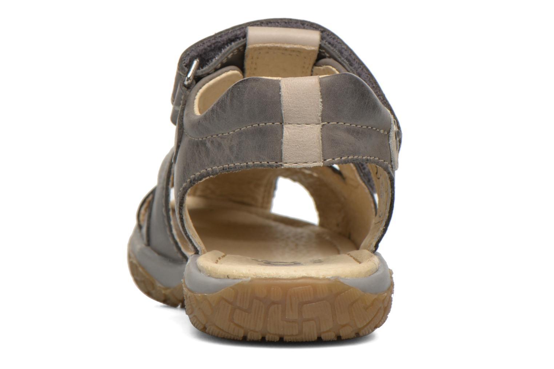 Sandales et nu-pieds Noël Tyler Gris vue droite
